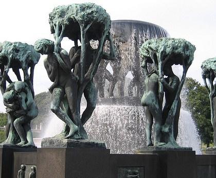 Beelden in Vigeland sculpturenpark