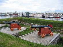 Kanonnen in Bodo Noorwegen