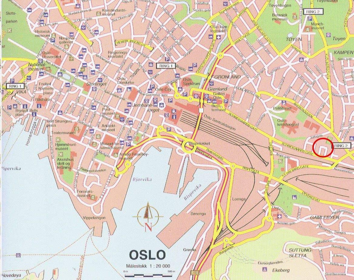 Kaart van Oslo
