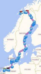 Autoroute naar de Lofoten