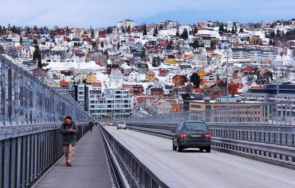 Brug in Tromso Noorwegen
