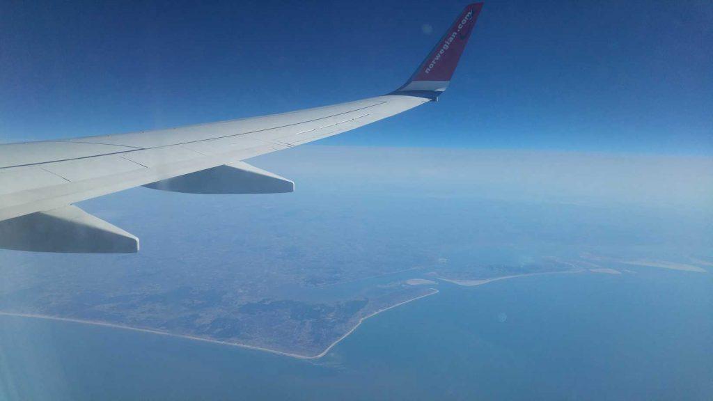 Vliegtuig naar Noorwegen