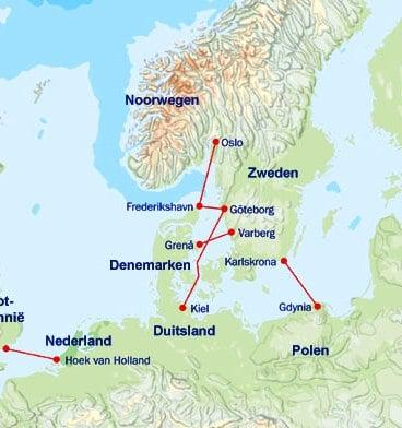 Stenaline routes
