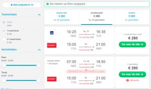 Prijzen vliegen Noorwegen