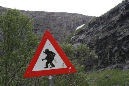bord trollen noorwegen vakantie