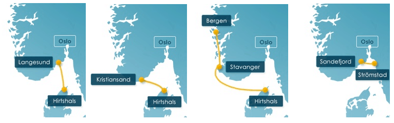 Fjordline routes