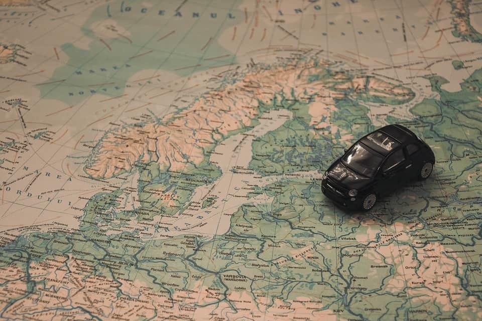 Landkaart Scandinavië