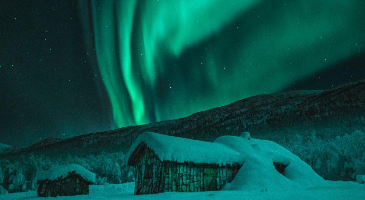 noorderlicht boven noorwegen
