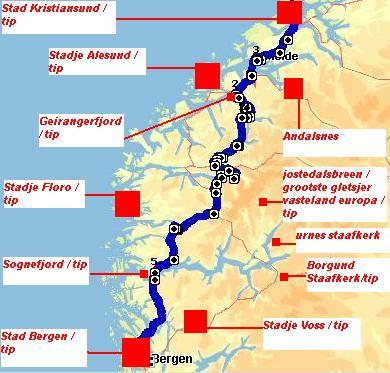 Rondreis Noorwegen route 2 deel 3