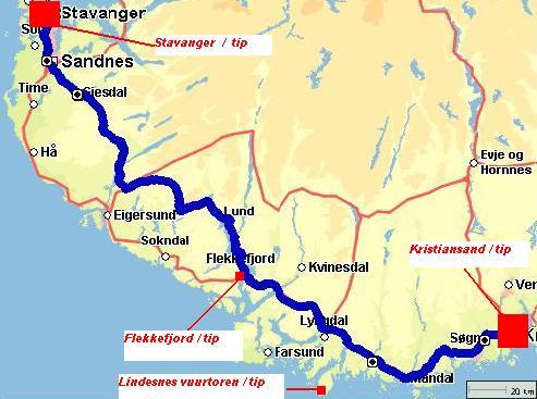 Rondreis Noorwegen route 2 deel 1