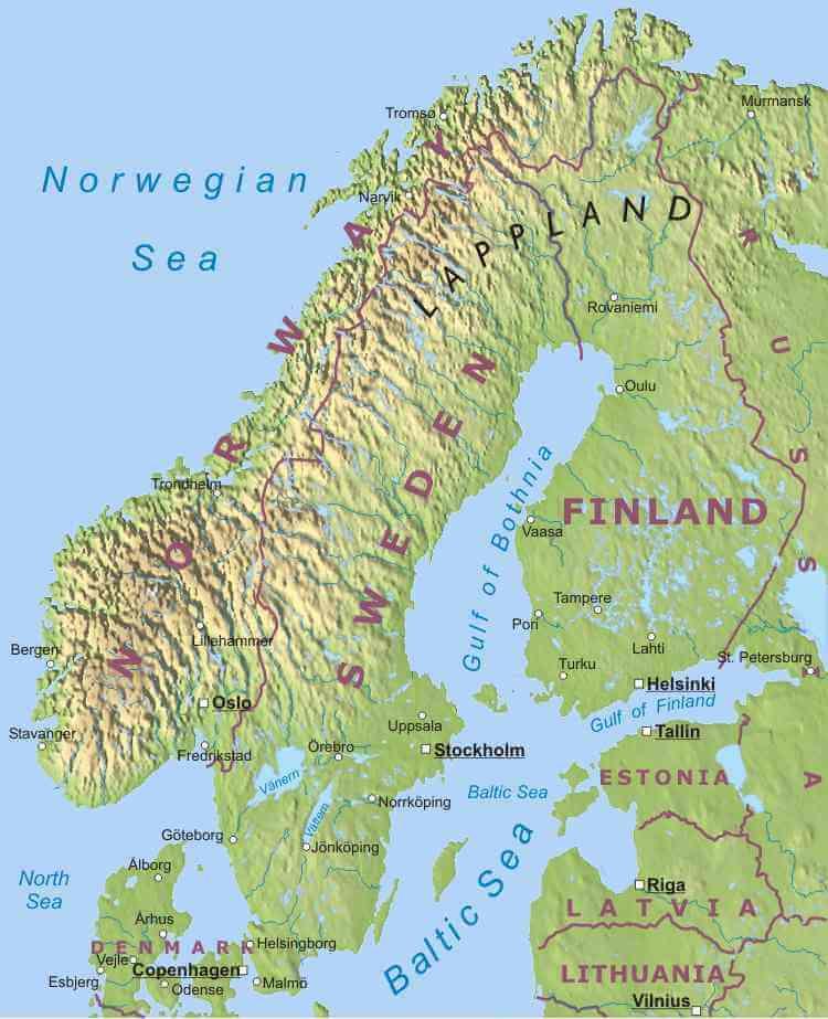 Scandinavie Infomatie Over Zweden Denemarken En Noorwegen