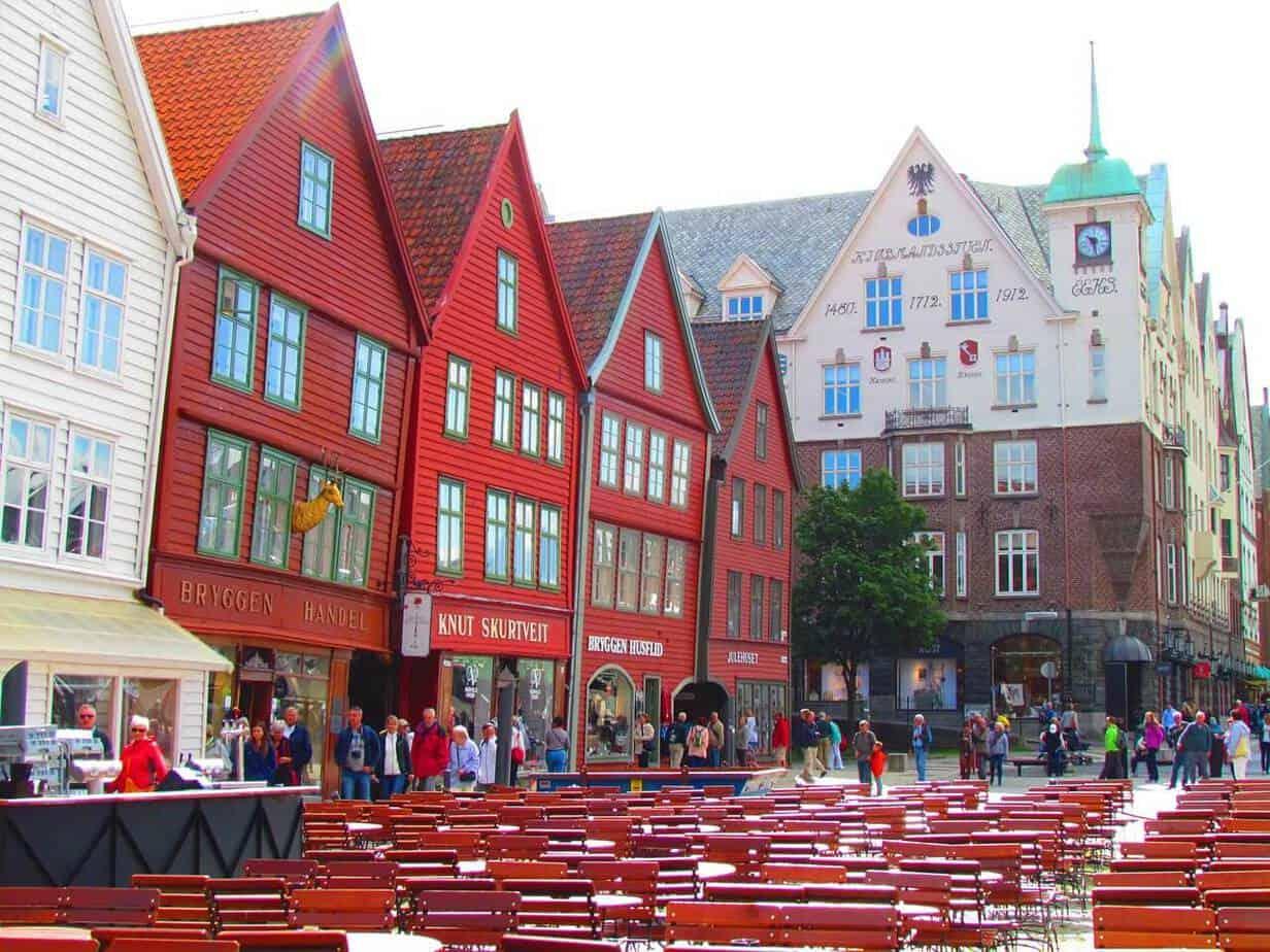 Bergen Iconische Rode Huizen