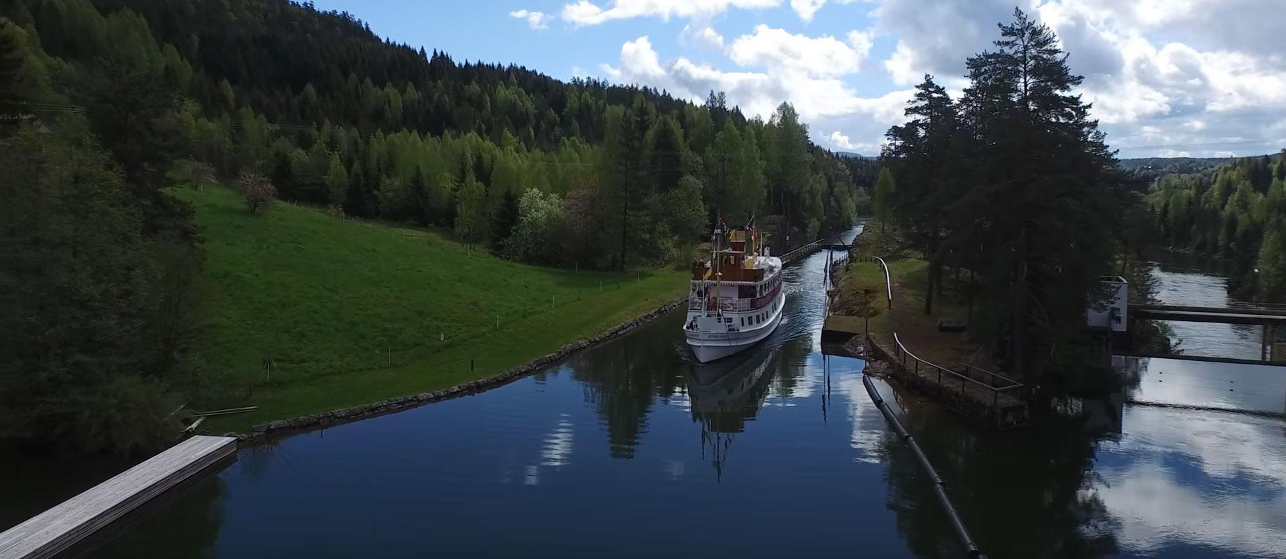 telemark kanaal uitzicht boot