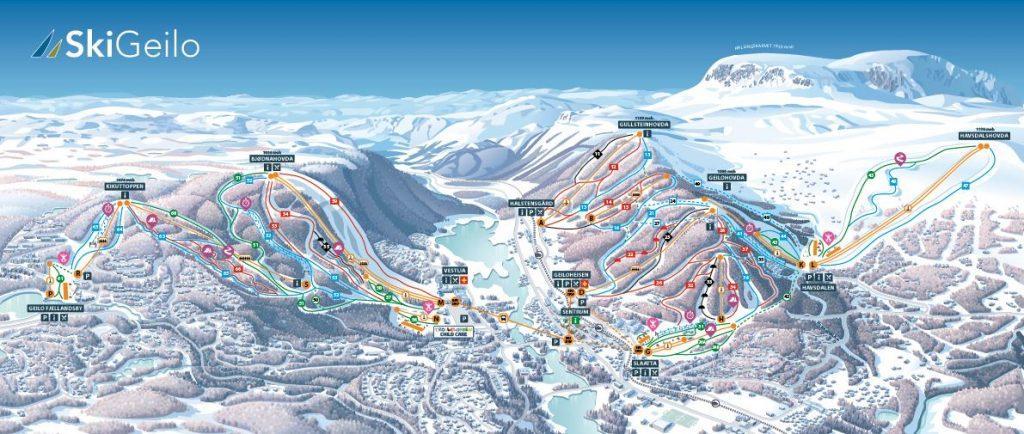 geilo ski kaart