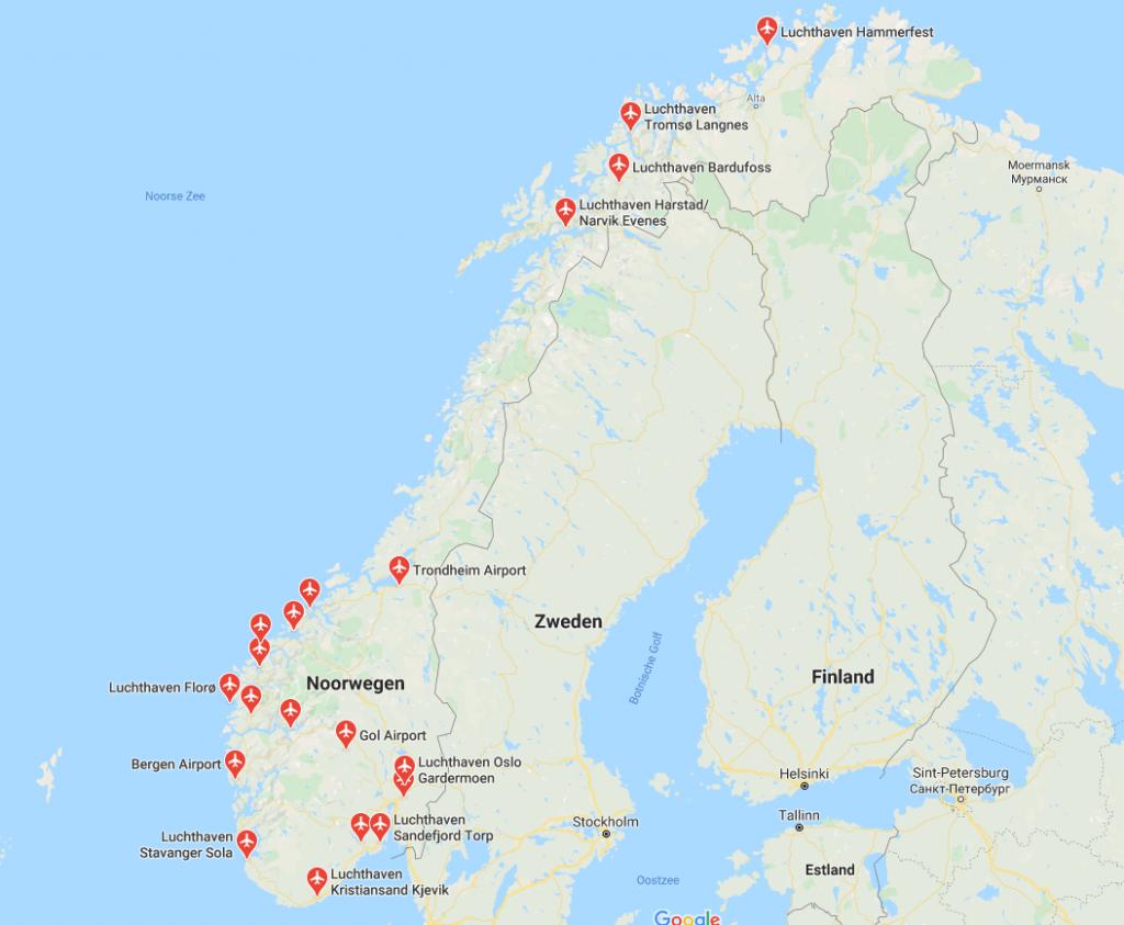 luchthavens noorwegen